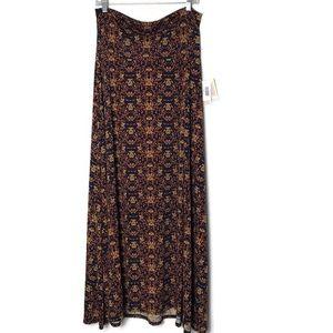 NWT LulaRoe Maxi Skirt - Fall Colors Size Large